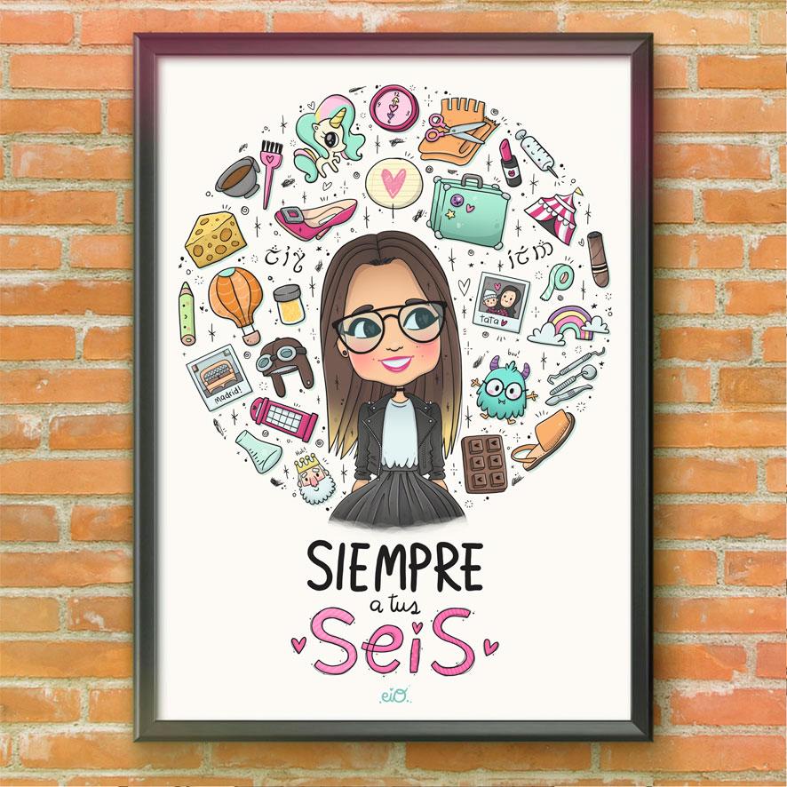Ilustraciones-personalizadas-autorregalo-cumpleaños-aniversario-hermana-sorpresa-kawaii-eiO