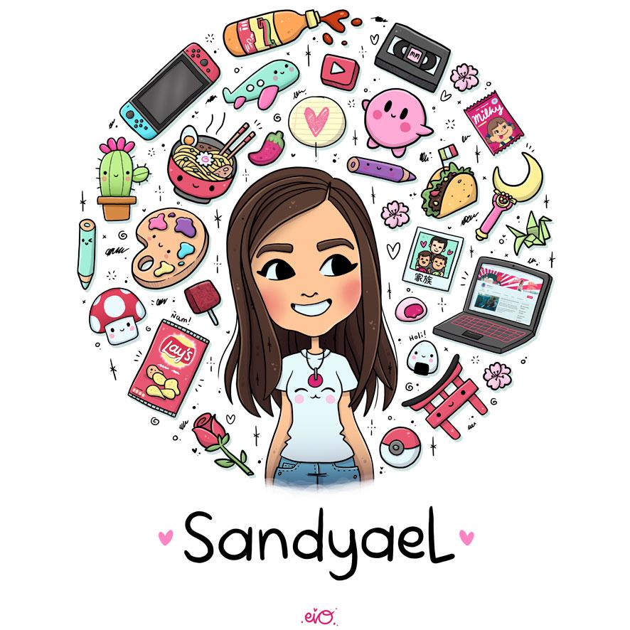Ilustraciones-personalizadas-autorregalo-cumpleaños-aniversario-youtuber-sandyael-sorpresa-kawaii-eiO