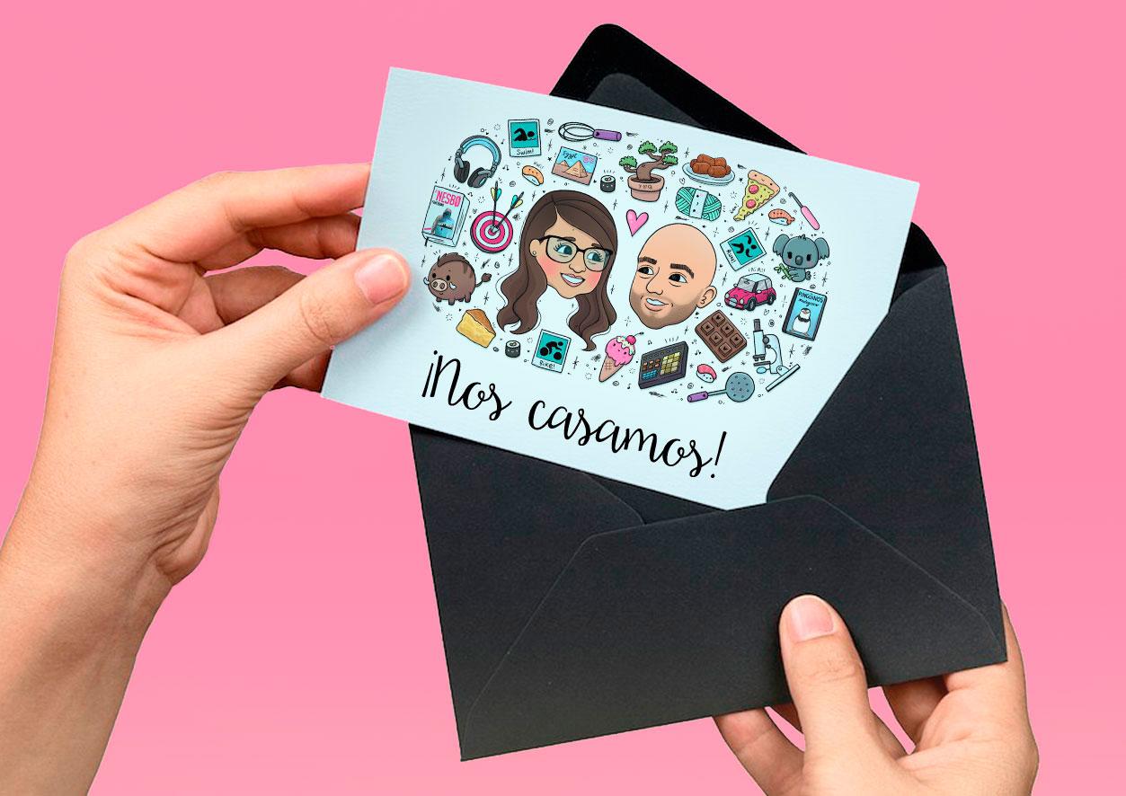 Ilustraciones-personalizadas-retrato-regalo-aniversario-boda-invitacion-wedding-planner-cumpleaños-aniversario-pareja-kawaii-eiO