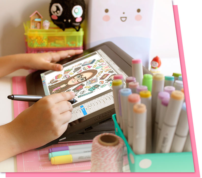 escritorio tableta gráfica eiO